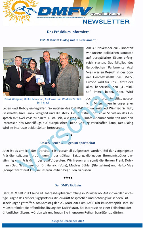 Newsletter Vorschau Website in Newsletter